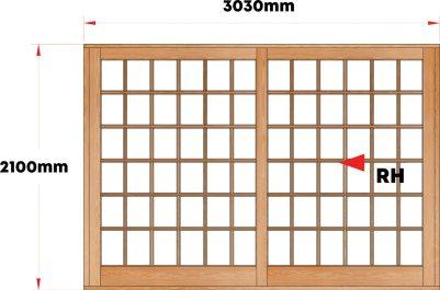 Van Acht Wood Sliding Doors Small Pane Model VSD3.0SP