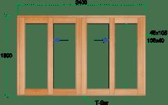 Van Acht Wood Sliding Windows Model VSW2415 DS