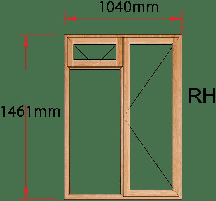 Van Acht Wood Windows Fanlight Windows Full Pane Model MA2F RH