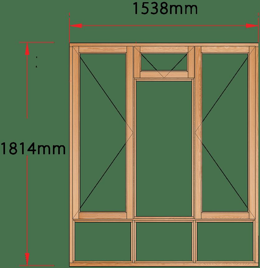 Van Acht Wood Windows Fanlight Windows Full Pane Model MA3FS