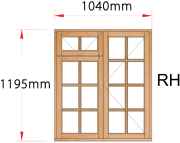 Van Acht Wood Windows Fanlight Windows Small Pane Model MB2FSP RH