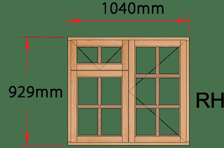 Van Acht Wood Windows Fanlight Windows Small Pane Model MC2FSP RH