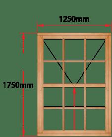 Van Acht Wood Windows Mock Easy Lift Sash Small Pane Model HMEL5SP
