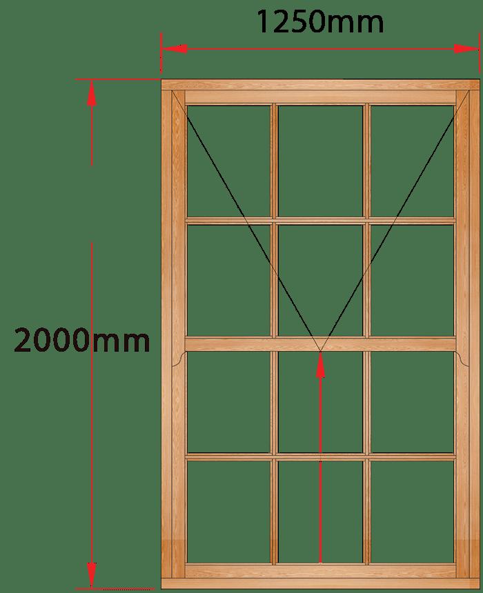 Van Acht Wood Windows Mock Easy Lift Sash Small Pane Model HMEL6SP