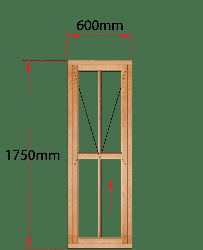 Van Acht Wood Windows Mock Easy Lift Sash Small Pane Model HMEL7V