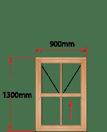 Van Acht Wood Windows Mock Easy Lift Sash Victorian Model HMEL2V