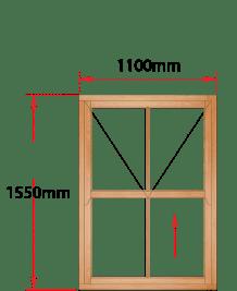 Van Acht Wood Windows Mock Easy Lift Sash Victorian Model HMEL3V
