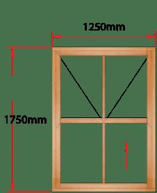 Van Acht Wood Windows Mock Easy Lift Sash Victorian Model HMEL5V