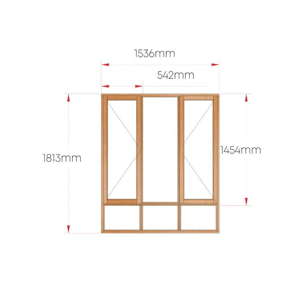 Van Acht Wood Windows Side Hung Full Pane MA3S