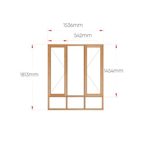 Van Acht Wood Windows Side Hung Full Pane MA3S