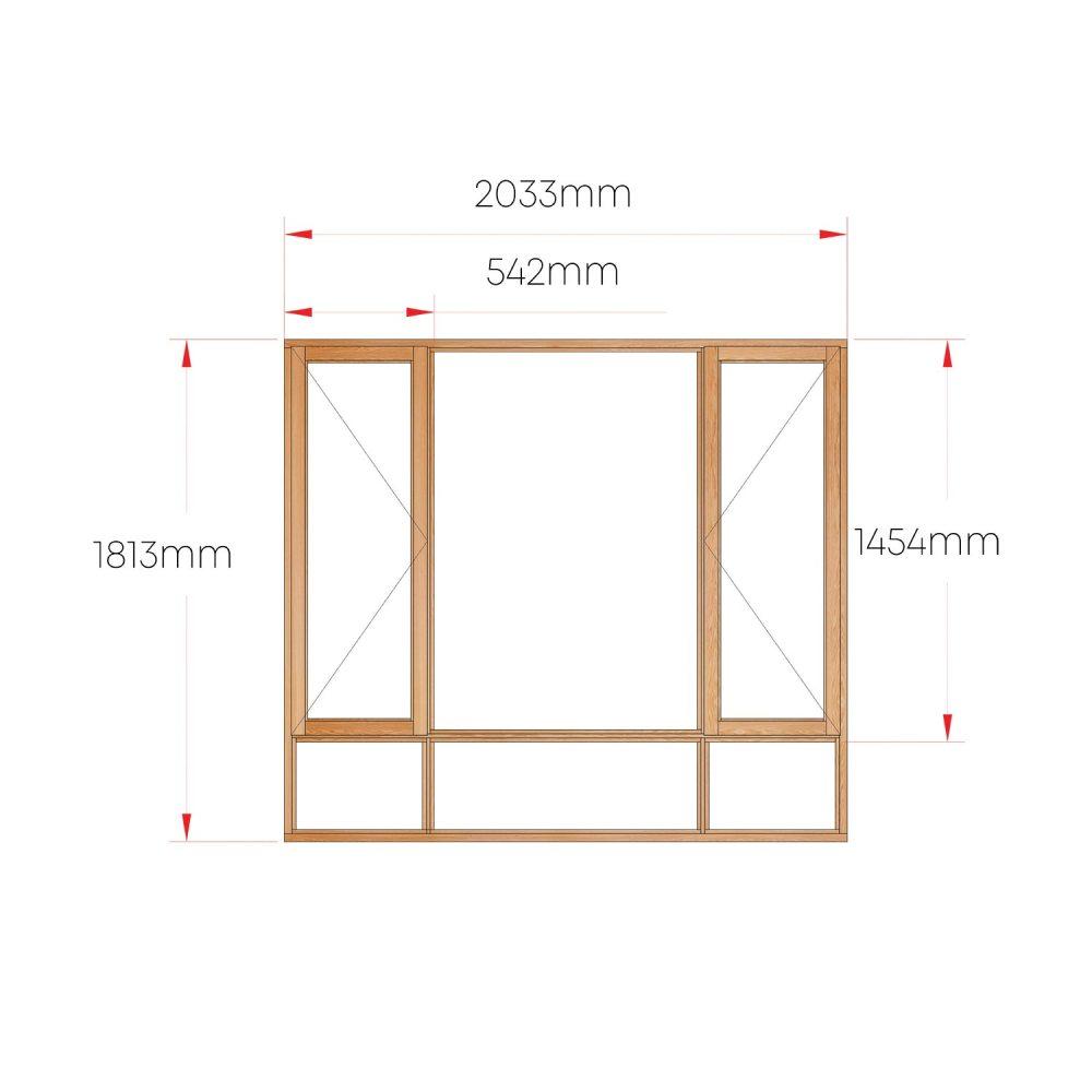 Van Acht Wood Windows Side Hung Full Pane MA4S