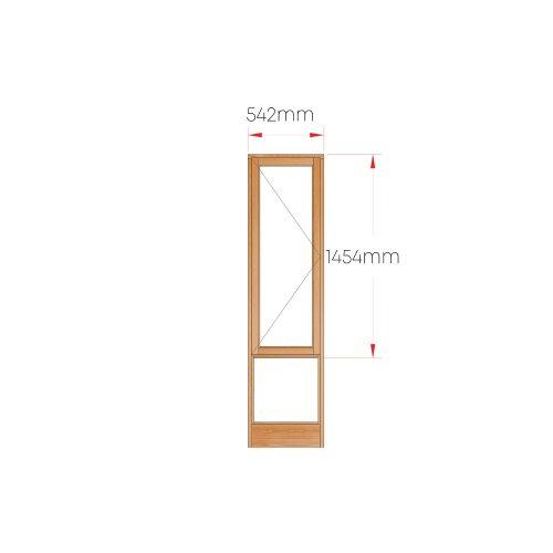 Van Acht Wood Windows Side Hung Full Pane MSLOP LH