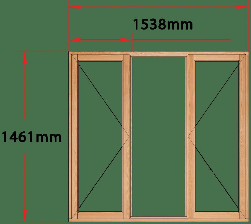 Van Acht Wood Windows Side Hung Full Pane Model MA3