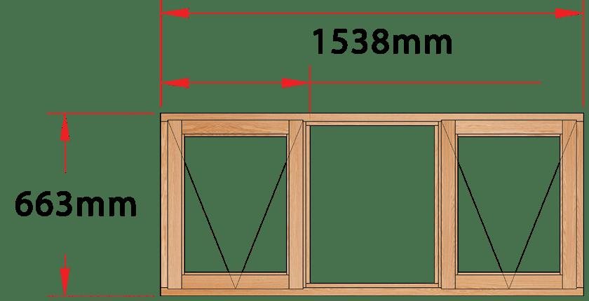 Van Acht Wood Windows Side Hung Full Pane Model MD3