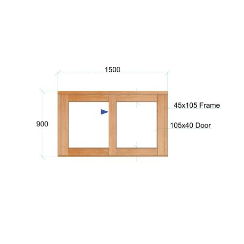 Van Acht Wood Windows Sliding Windows Product VSW159L