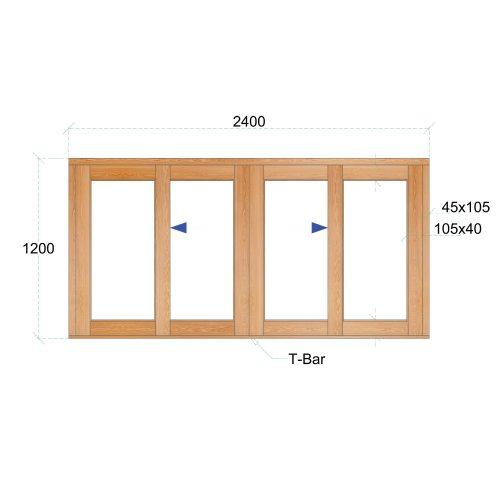 Van Acht Wood Windows Sliding Windows Product VSW2412 DS