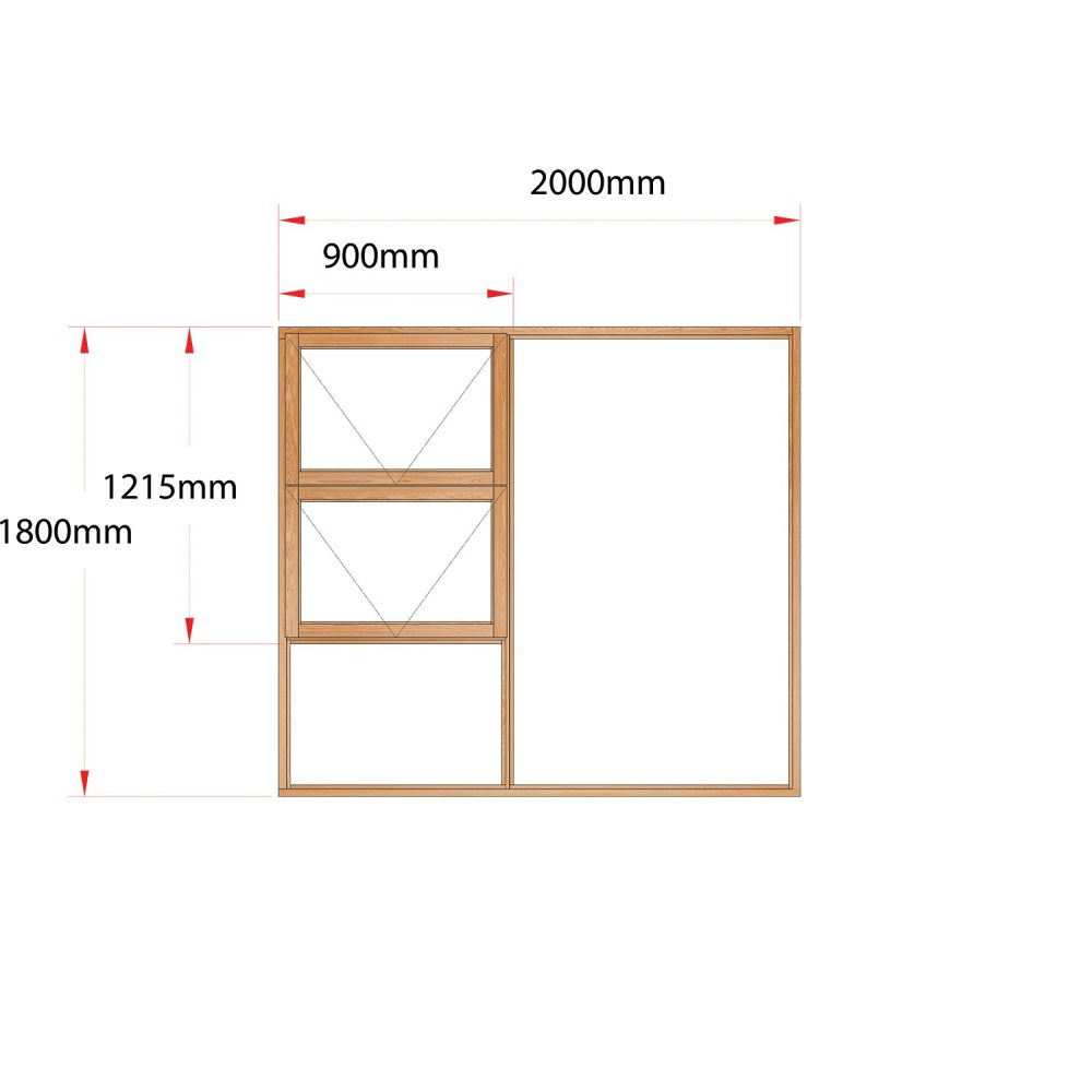 Van Acht Wood Windows Top Hung Product MJ20 LH