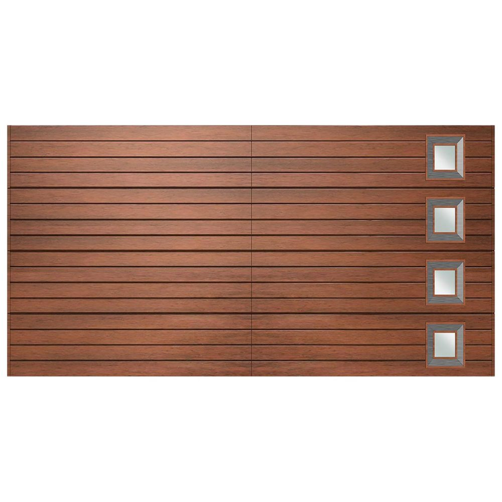 Van Acht Marine Ply Garage Door double horizontal no 9 rh crv 1
