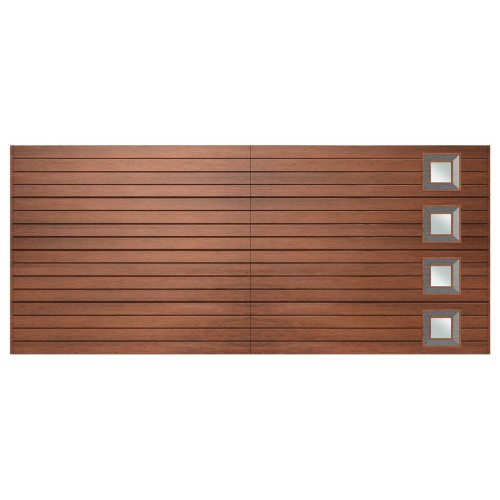 Van Acht Marine Ply Garage Door double horizontal no 9 rh