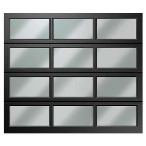 single 12 panel polycarbonate charcoal