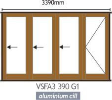 Van Acht Wood Folding Doors Full Pane VSFA3390G1