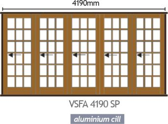 Wood Folding Door - VSFA 4190 SP