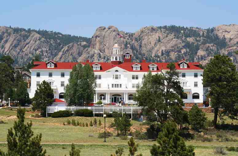 A Front View of the Stanley Hotel, Estes Park, Colorado