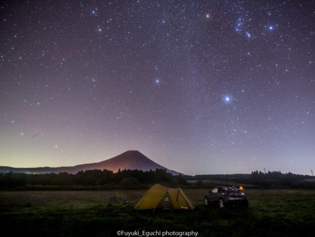 ふもとっぱらオートキャンプ場の星空 (Canon EOS6D + TAMRON SP 15-30mm F2.8)