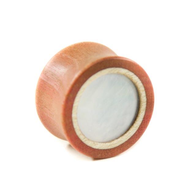 Holzplug Pink Ivory mit Perlmutt - van branch - Frontansicht
