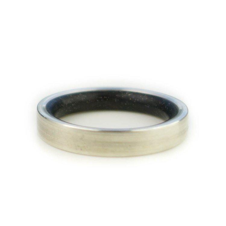 Holzring Eichborndamm Dein Ring | van branch - Beispiel- Sterlingsilber/ Mooreiche
