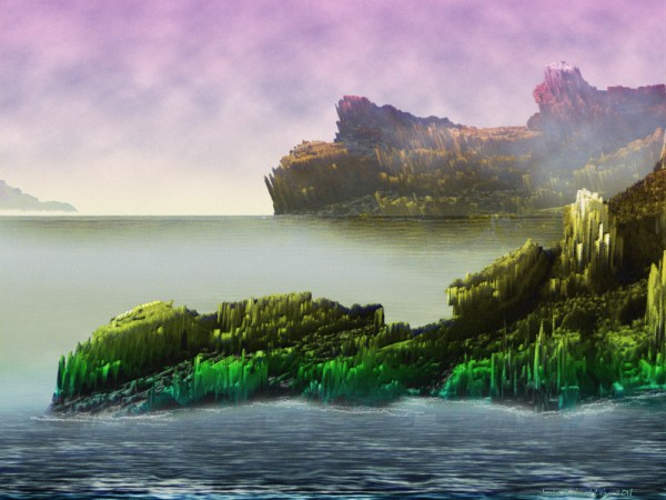 Utopia Islands - Painting by Lutz Roland Lehn