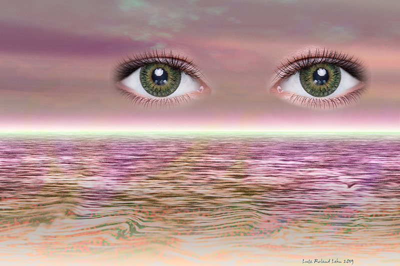 Strange Eyes 2019 – Digital Painting by Lutz Roland Lehn