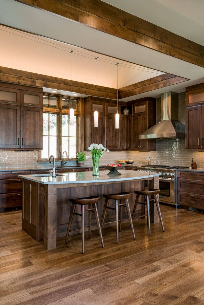 how to make kitchen cabinets look rustic