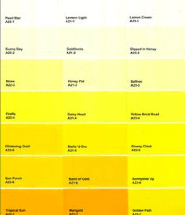 shades of yellow 94 percent