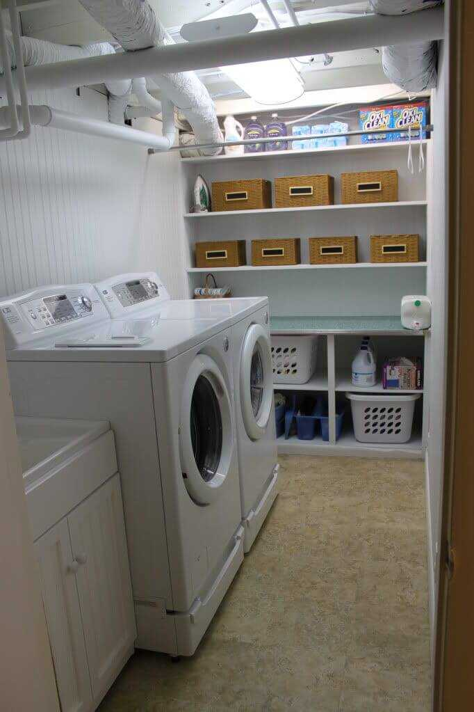 basement laundry room flooring ideas