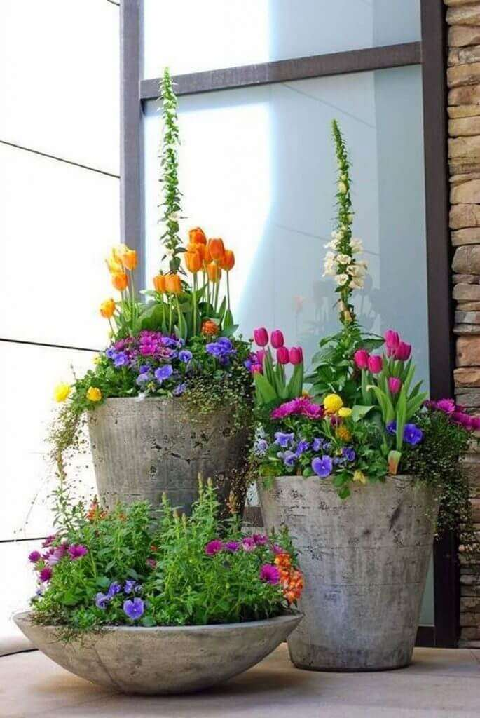 front door flower pot ideas