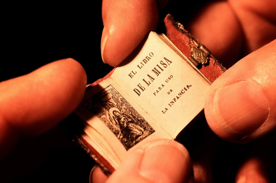 Macro photography of a miniature bible shot for Canadian Airlines inFlight magazine
