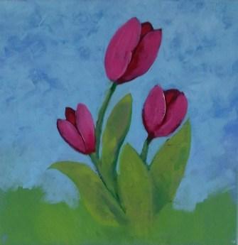 tulip paint project