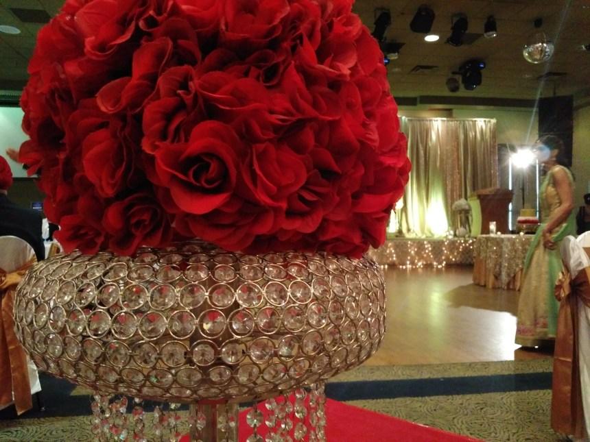 Decor at Crystal Hall, Surrey BC Canada Indian Wedding