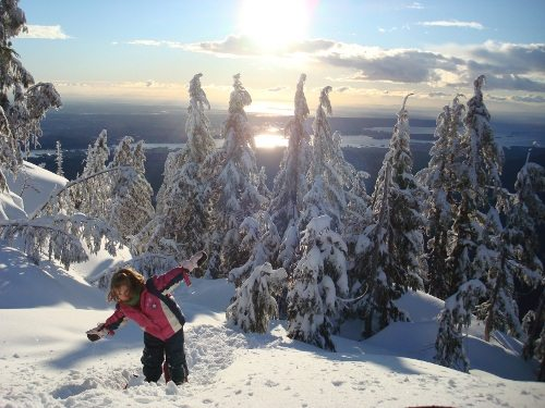 snowshoeing at Mt Seymour