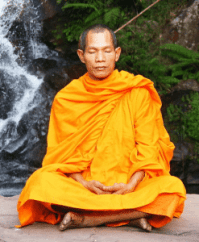 wellness Buddhist Monk Meditating