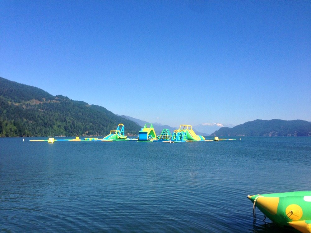 inflatable water park Harrison Hot Springs