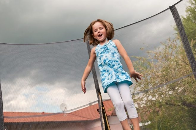 Getting kids outside: Springier Trampoline