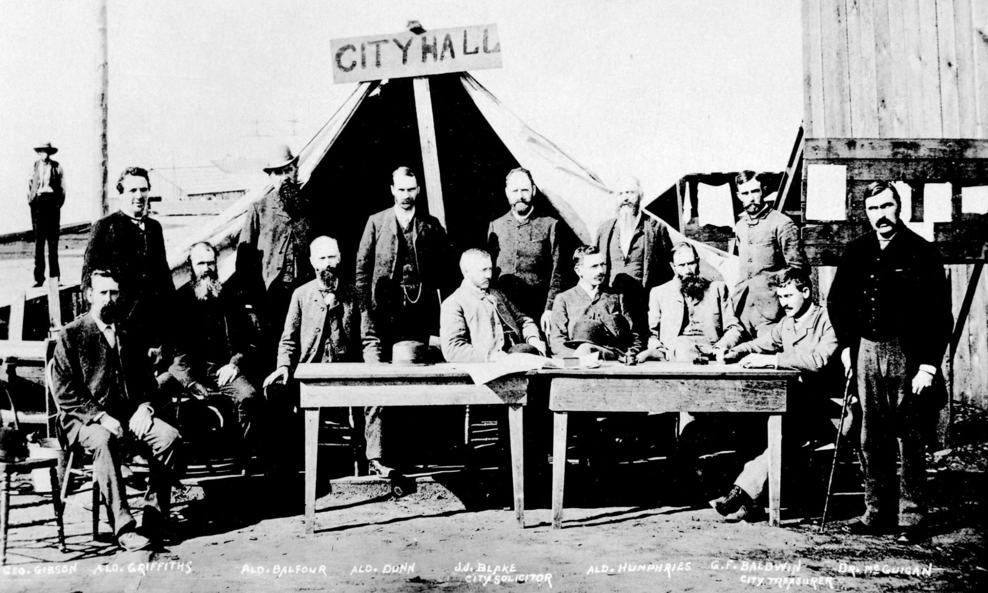Vancouver City Hall and 1st Council, 1886