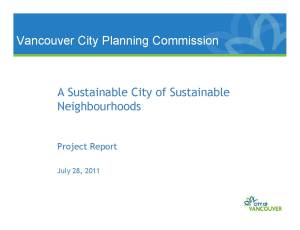 A Sustainable City of Sustainable Neighbourhoods presentation cover slide