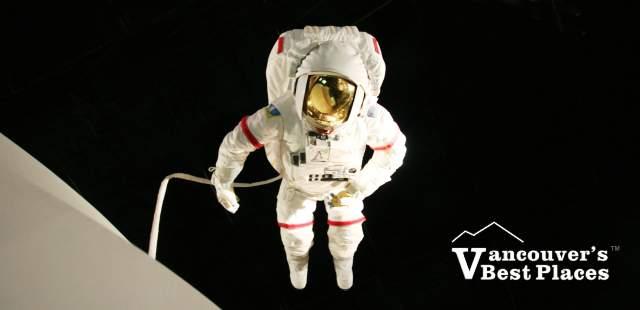 Astronaut Display at HR MacMillan Space Centre