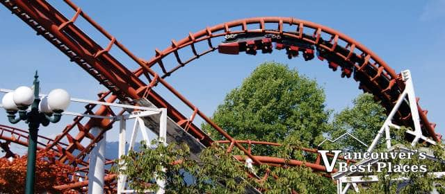 The Corkscrew Roller Coaster at the PNE