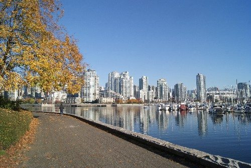 Vancouver from False Creek near the Olympic Village
