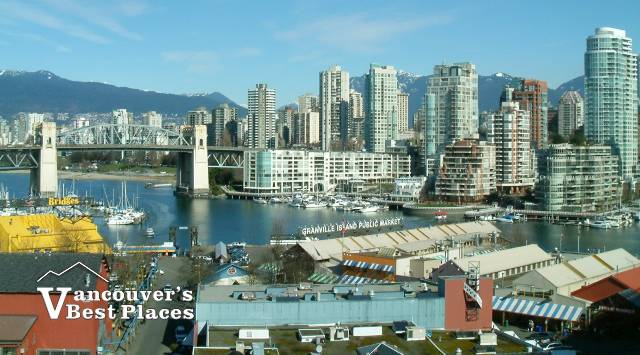 Granville Island with Vancouver Background