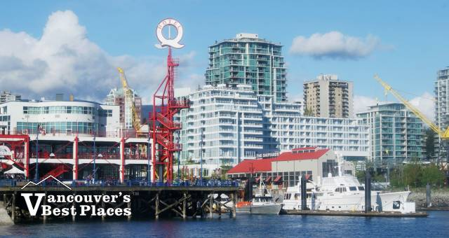 View of Lonsdale Quay with Vancouver across the water